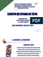 Elementos Que Integran Los Textos