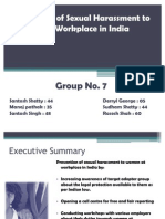 Prevention of Sexual Harassment to Women at Workplaces in India