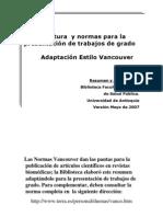 Normas Vancouver 2007 Correcciones Mayo