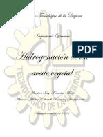 Proceso de hidrogenación de un aceite vegetal