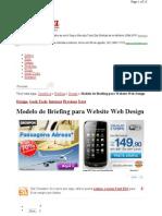 Modelo de Briefing Para Website Web