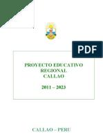 Proyecto Educativo Regional 2011