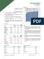 Derivatives Report 22nd August 2011