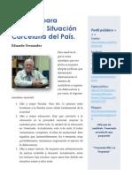 Decálogo para Mejorar la Situación Carcelaria del País