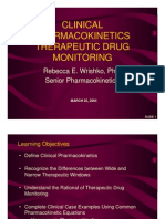 Clinical Pharmacokinetics Therapeutic Drug Monitoring