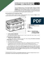 Earthquake Safe Construction of Masonry Buildings Zone III IV V