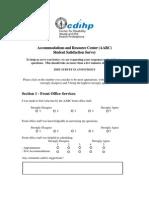 Aarc Survey Form