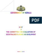 Report Decentralised Planning Kerala 2009 Oommen
