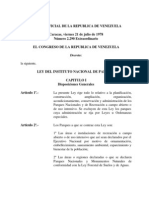 Ley Del Instituto Nacional de Parques Inparques