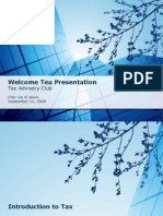 Welcome Tea Tax Presentation[1]