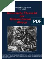 Von Hoyer, Johan Gottfried. Historische Uebersicht Der Militair-Literatur, in Hermes 1829-31
