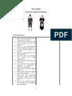 The Crucible Character Analysis Worksheet