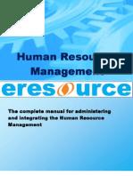 Human Resource Management in Eresource Erp