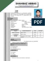 Shahbaz Abbas CV