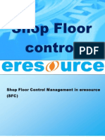 Shop Floor Control in Eresource Erp