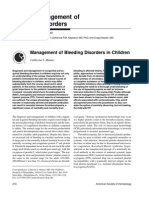 Management of Bleeding Disorders in Children - Manno