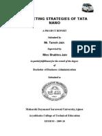 Marketing Strategies of Tata Nano