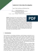 Authorship Analysis 4 Cc