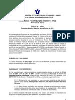 Edital 2011 Mestrado Direito UNIRIO