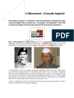 Anna Hazare's Movement