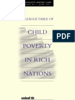 Innocenti Report Card 1 - A League Table of Child Poverty in Rich Nations