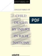 Innocenti Report Card 2 - A League Table of Child Deaths by Injury in Rich Nations