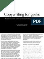 Copywriting for Geeks
