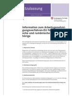 Amz Ae Verfahren Fuer Rumaenien Bulgarien Merkblatt