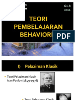 Teori Pembelajaran Behavioris