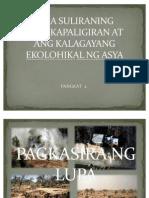 Mga Suliraning Pangkapaligiran at Ang Kalagayang Ekolohikal Ng