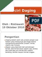 Ciri-ciri Daging