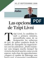 Samuel Hadas. Las Opciones de Tzipi Livni
