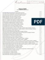 KK - Pricing List - 2012