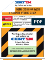 Nylon Sling Warning English1
