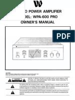 312207 an 01 en WPA 600 Pro Stereo Leistungsendstufe