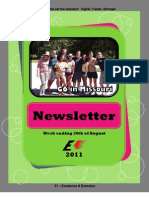 Newsletter Week 10 2011