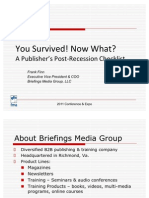 You Survived! Now What? A Publisher's Post-Recession Checklist