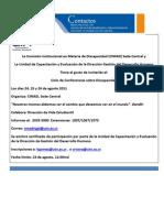 BC 2011-065 Conferncias ad UTN