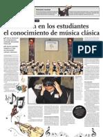 Promueven en los estudiantes el conocimiento de música clásica