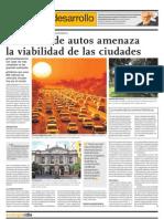 El Exceso de Autos Amenza La ad de Las Ciudades