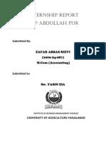 Internship Report NBP Abdullah Pur FAISALABAD