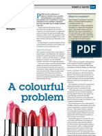 """A Colourful Problem"" - how industrial pumps keep cosmetics feedstocks flowing, for tce Today"