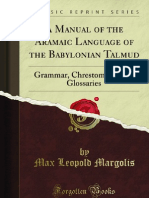 A Manual of the Aramaic Language of the Babylonian Talmud - 9781440082184