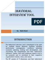 Behavioral Interview Tool