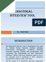 Behavioral Interview Tool