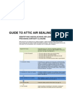 GM Attic Air Sealing Guide and Details
