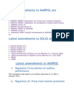 Latest Amendments to MARPOL & SOLAS