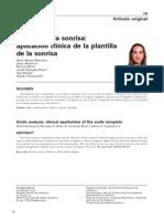 Análisis de la sonrisa, aplicación clínica de la plantilla de la sonrisa