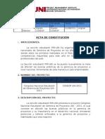 Acta de Contitucion Del CONEPUNI 2011
