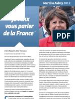 Martine Aubry Lettre Aux Francais